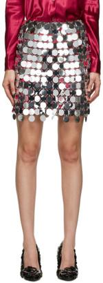 Paco Rabanne Silver Discs Miniskirt