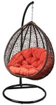Abbyson Shermans Outdoor Wicker Patio Swing Chair, Stand