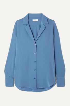 Equipment Oriana Silk Crepe De Chine Shirt - Blue