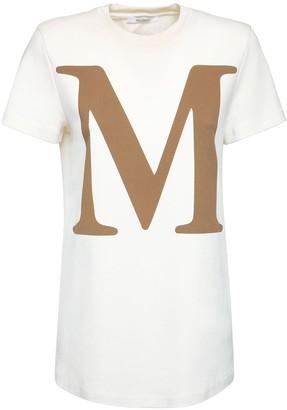 Max Mara M Logo Print Cotton Jersey T-shirt