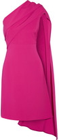 Narciso Rodriguez Draped One-shoulder Stretch-silk Crepe Dress - Fuchsia