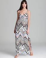Aqua Maxi Dress - Chevron Zebra Cami