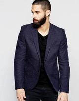 Only & Sons Suit Jacket With Fleck In Slim Fit