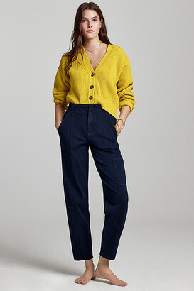 Pilcro And The Letterpress Pilcro Ultra High-Rise Relaxed Jogger Jeans By in Blue Size 25