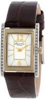 Kenneth Cole New York Women's KC2750 Classic Tank Case with Stones on Bezel Watch