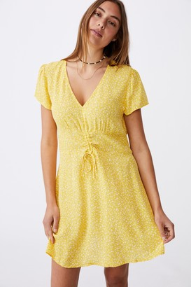 Cotton On Woven Marissa Gathered Front Mini Dress