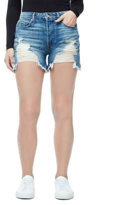 Good American Bombshell High Waist Cutoff Denim Shorts (Regular & Plus Size)