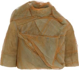 Rick Owens Stalacmite Cropped Plisse-tulle Jacket
