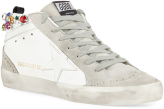 Golden Goose Midstar Crystal High-Top Sneakers