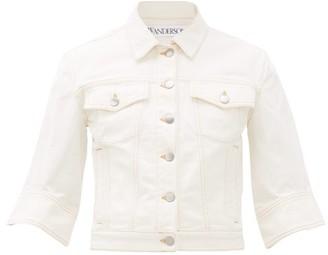J.W.Anderson Cropped Denim Jacket - White