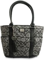 ABS by Allen Schwartz® Tote Diaper Bag in Black Lace Print