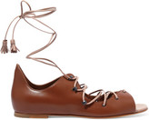 Malone Souliers Savannah Lace-up Leather Sandals - Tan