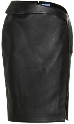 Thierry Mugler High-rise leather skirt