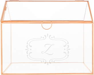 Cathy's Concepts Monogram Rose Gold Reception Card Holder