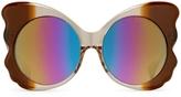 Matthew Williamson Rainbow Mirrored Butterfly Sunglasses