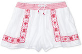 Ralph Lauren Smocked Floral-Embroidered Shorts, Big Girls (7-16)