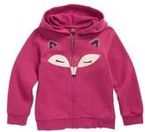 Tea Collection Toddler Girl's Fox Face Zip Hoodie