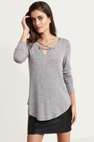 Dynamite Tunic With Lace Up Detail