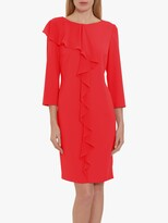 Thumbnail for your product : Gina Bacconi Thandie Moss Crepe Chiffon Frill Dress