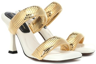 Proenza Schouler Metal and leather sandals