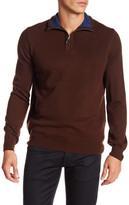 Thomas Dean Partial Zip Wool Sweater