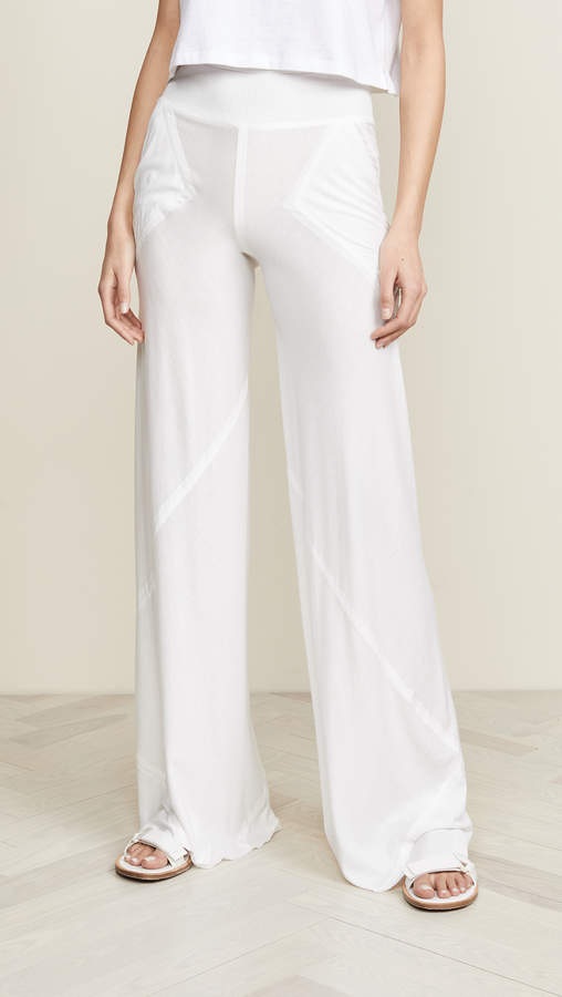 d851044a Cotton Elastic Waist Wide Leg Pants - ShopStyle