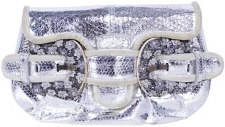 Fendi Metallic Leather Clutch bags