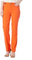 Focus 2000 Red Orange Belted Straight-Leg Pants