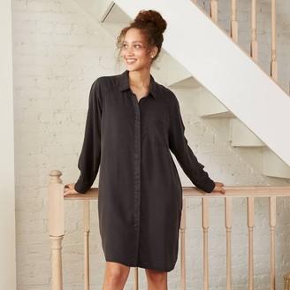 Universal Thread Women's ong Seeve Button-Down Shirtdress - Universa ThreadTM