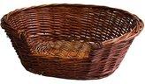 JVL Full Buff Wicker Small Pet Bed Basket - 58 x 49 x 20 cm