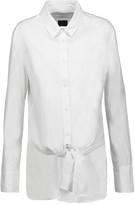 RtA Marie tie-front cotton-poplin top