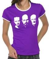 Walter Touchlines Girlie Ringer Ladies' Contrast T-Shirt Jesse Mike Faces blue Size:M