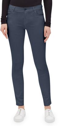 Lafayette 148 New York Mercer Skinny-Leg Waxed Denim Jeans