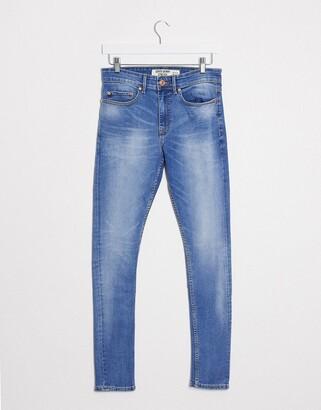 New Look super stretch skinny jeans in bright blue