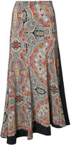 Theory paisley print maxi skirt