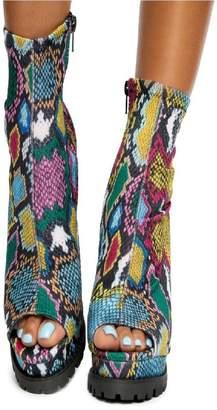 Liliana Monclair-21 High Heel Booties Multi Snake Print
