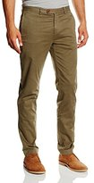 Brooks Brothers Men Red Fleece Chino Slim Fit Trousers,size
