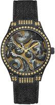 GUESS Women's Black Leather Strap Watch 39mm U0844L1