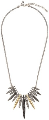 John Hardy 18kt yellow gold and sterling silver Classic Chain sapphire and spinel spear pendant necklace
