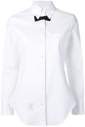 Thom Browne Bow-Tie Detail Long-Sleeve Shirt