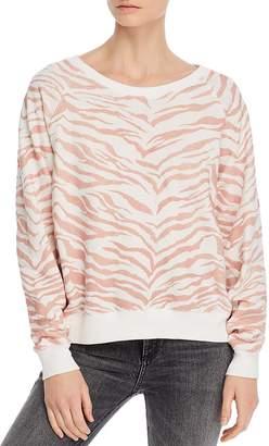 Rails Theo Flocked Animal-Print Sweatshirt