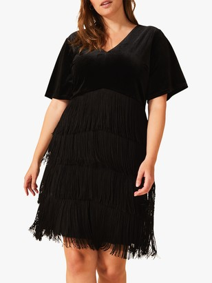 Studio 8 Felicity Fringe dress, Black