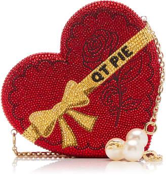 Judith Leiber Couture QT Pie Love Heart Crystal Crossbody Bag
