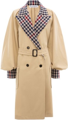 J.W.Anderson Contrast Check Trench Coat