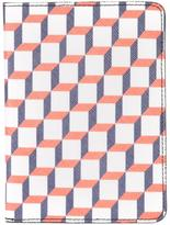 Pierre Hardy geometric print passport case - unisex - Calf Leather/Canvas - One Size