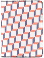 Pierre Hardy geometric print passport case - unisex - Calf Leather/Canvas - One Size