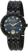 Versus By Versace Women's 'Coral Gables' Quartz Stainless Steel Casual Watch, Color:Black (Model: SOD100015)