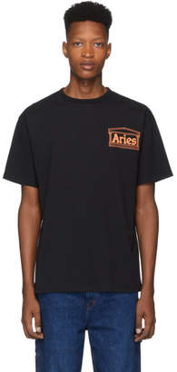 Aries Black Classic Temple T-Shirt