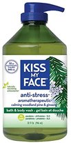 Kiss My Face Natural Bath and Body Wash, Anti-Stress and Aroma-therapeutic, 32 Ounces