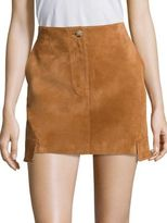 Helmut Lang Cargo Suede Mini Skirt